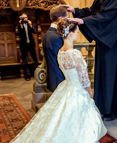 Hochzeitsfotograf Dresden - Dokumentation der Hochzeit in der Kirche